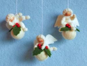 Drie Kerstbal Engeltjes Het Vrolijke Nest