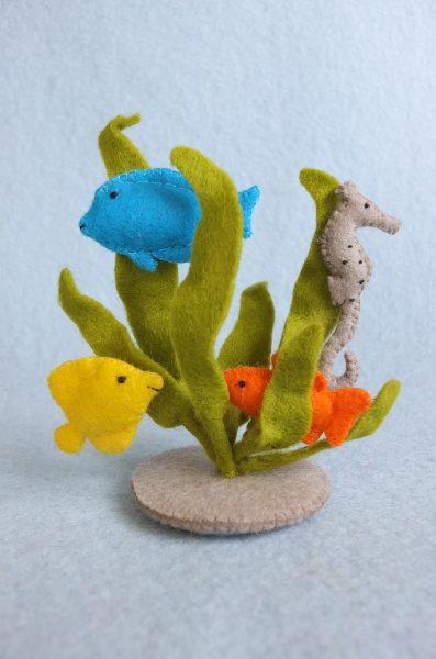 Waterplantjes Met Vissen En Zeepaardje Viltpakket Atelier